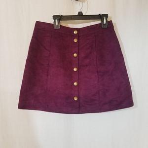 Old Navy Suede look mini skirt